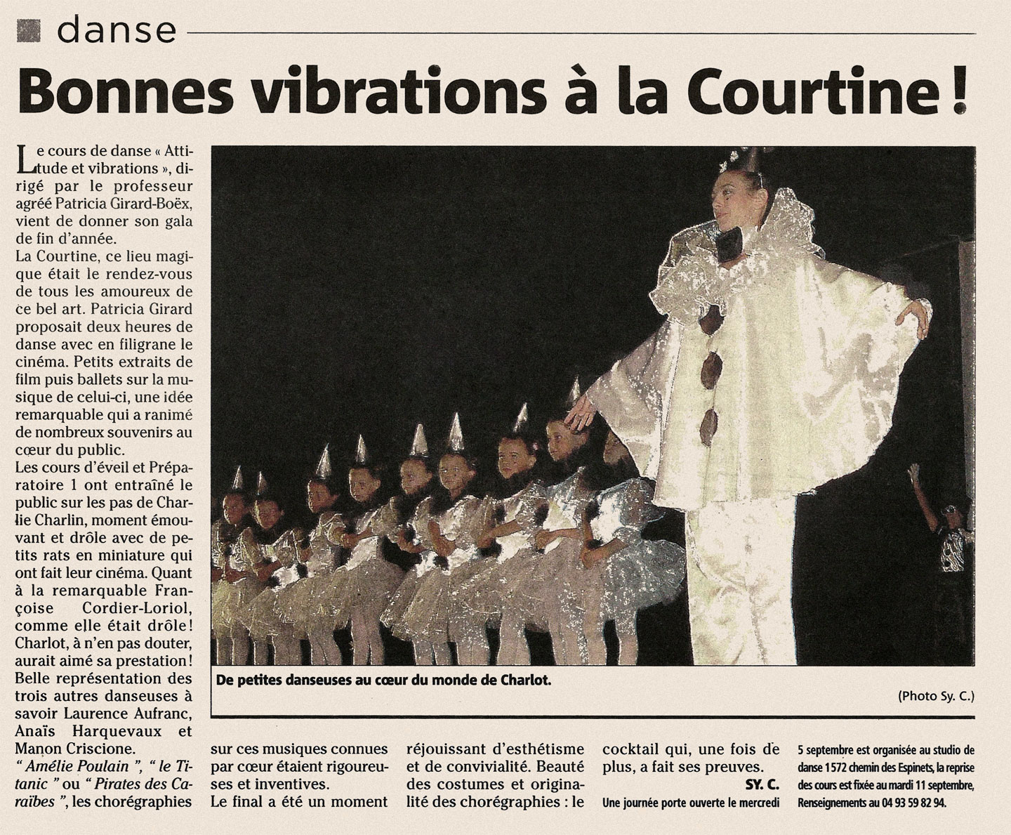 Bonnes vibrations à la Courtine